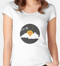 Sunburst Records Women's Fitted Scoop T-Shirt