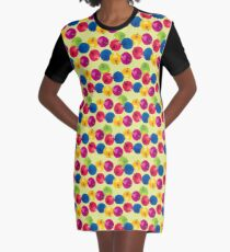 Colorful Berries Graphic T-Shirt Dress