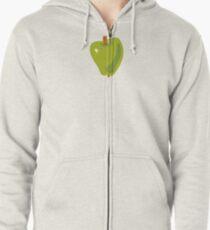 Green Apple Zipped Hoodie