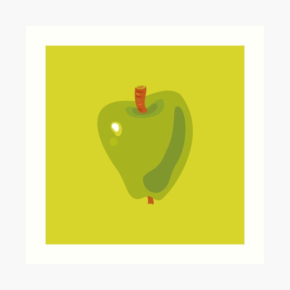 Green Apple Art Print
