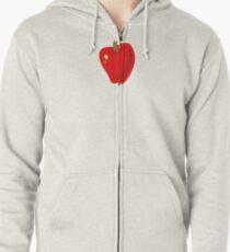 Red Apple Zipped Hoodie