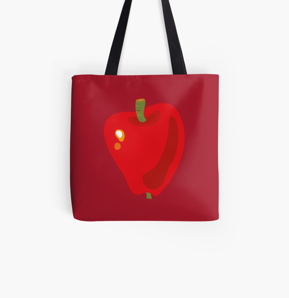 Red Apple All Over Print Tote Bag
