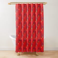 Red Apple Shower Curtain