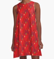 Red Apple A-Line Dress