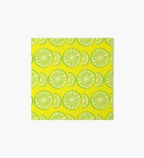 Lime Art Board Print