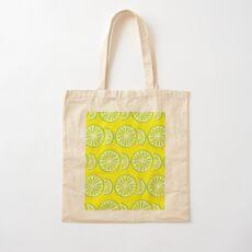 Lime Cotton Tote Bag