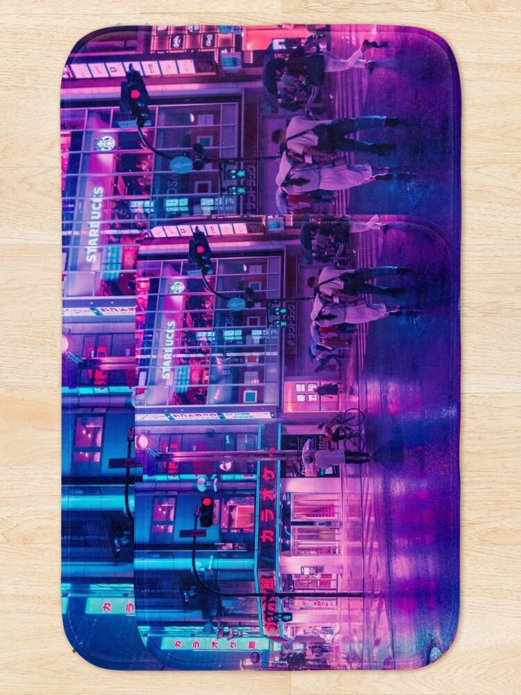 Alternate view of Neon Nostalgia Bath Mat