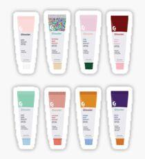 glossier balm dotcom set Sticker