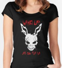 Wake Up Donnie Women's Fitted Scoop T-Shirt