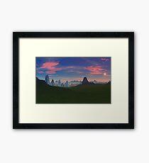 Kalees Deemis - City in the Mist Framed Print