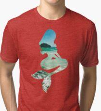Mermaid ocean beach boho cool trendy pretty design Tri-blend T-Shirt