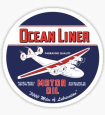 Ocean Liner Motor Oil Sticker