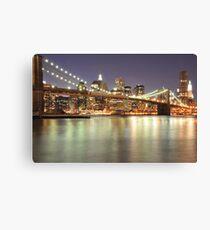 Brooklyn Bridge and Lower Manhattan Canvas Print