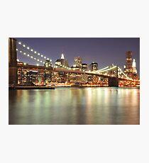Brooklyn Bridge and Lower Manhattan Photographic Print