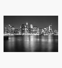 Lower Manhattan in Black and White Photographic Print