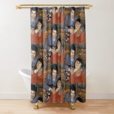 Fred and Rose family portrait Shower Curtain