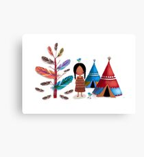 The Feather Tree Canvas Print