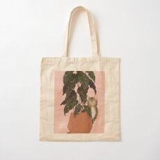 tiger at heart Cotton Tote Bag