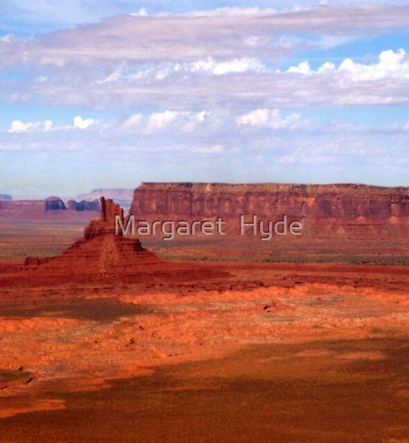 Aerial of Monument Valley 3 by Margaret  Hyde