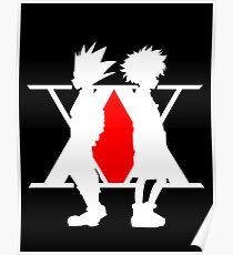 Hunter X Hunter Gon Killua Logo Anime Cosplay Japan T Shirt  Poster
