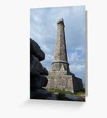 Looking up to the Basset Monument Greeting Card