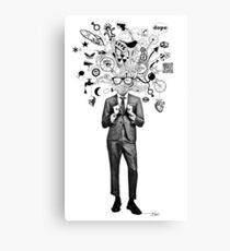 analogue thought in the time of digital mayhem Canvas Print