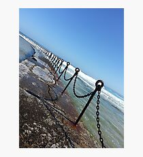 Newcastle Ocean Baths Chain Photographic Print