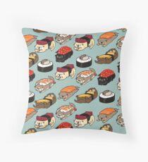 Sushi Otter Throw Pillow