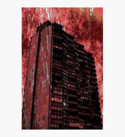 And Darkness and Decay and the Red Death held illimitable dominion over all Photographic Print