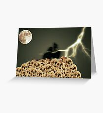 Happy Halloween Crows Greeting Card