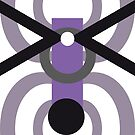 Purple Ant Parade Abstract Repeating Design by Jenny Meehan by Jenny Meehan