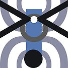 Blue Ant Parade Abstract Repeating Design by Jenny Meehan by Jenny Meehan