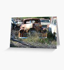 Peak Hill car wrecks - old Holden Greeting Card