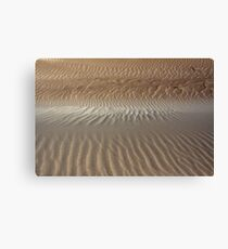Ripple Patterns in Sand. Canvas Print