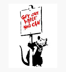 Banksy - Get Out While You Can Photographic Print