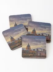 London cityscape Coasters