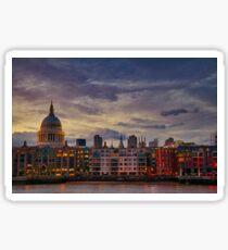 London cityscape Glossy Sticker
