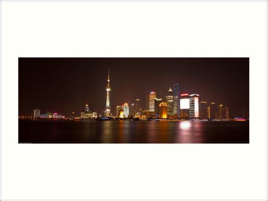 Shanghai City Lights by Ian Fraser
