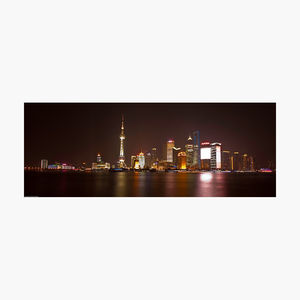 Shanghai City Lights Photographic Print