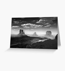 Monument Valley in Black & White  Greeting Card