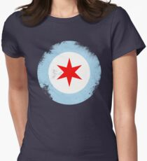 Chicago Mod Distressed Women's Fitted T-Shirt