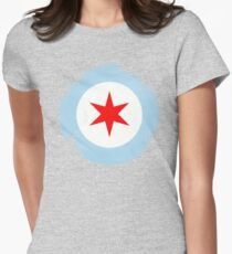 Chicago Mod Distressed Womens Fitted T-Shirt