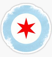 Chicago Mod Distressed Sticker