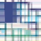 Blue, Green, and Purple Linear Dodge Abstract by Jenny Meehan  by Jenny Meehan