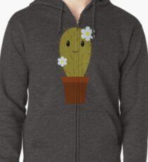 Cute baby cactus Zipped Hoodie