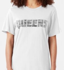 Queens New York Typography Text Slim Fit T-Shirt