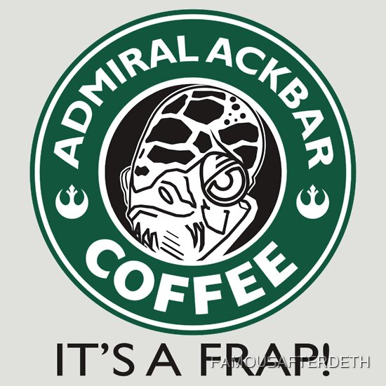 TShirtGifter presents: Admiral Ackbar Coffee T-Shirt