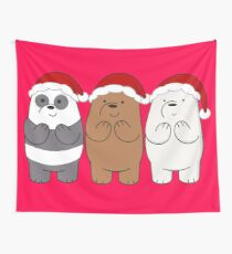We Bare Bears Xmas Wall Tapestry