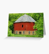 old round barn Greeting Card