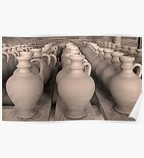 Pottery - waiting for colors Poster